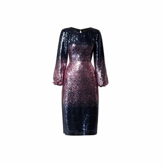 Rumour London Celeste Midi Sequined Ombre Dress With Side Slits