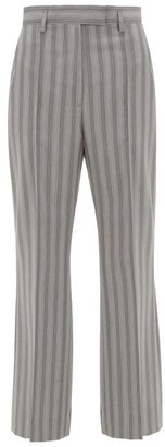 Acne Studios Patrina High-rise Pinstriped Wool Trousers - Grey