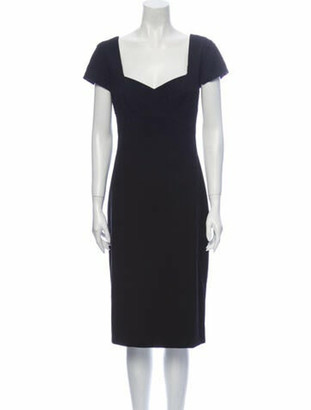 Narciso Rodriguez Virgin Wool Midi Length Dress Wool