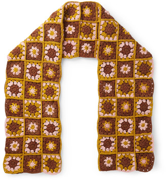 Story mfg. Crocheted Organic Cotton Scarf - Brown