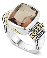 Lagos 18K Gold and Sterling Silver Medium Smoky Quartz Ring