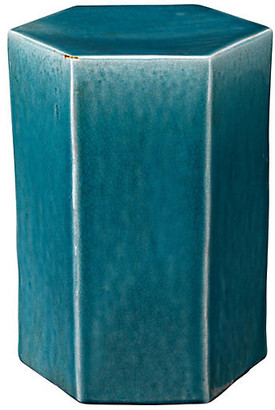 Jamie Young Small Porto Outdoor Side Table - Blue