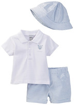 Absorba Polo, Short, & Hat Set (Baby Boys)
