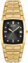 Citizen Eco-Drive Mens Gold-Tone Watch BM6552-52E