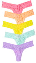 Hanky Panky Signature Lace Petite Low Rise Thong 5 Pack
