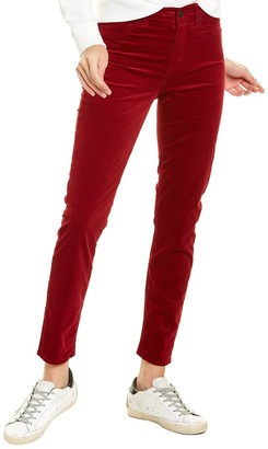 Hudson Barbara Oxblood High-Waist Super Skinny Ankle Cut Jean