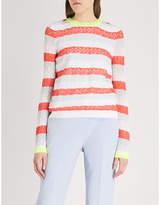 DELPOZO Striped cotton-blend jumper