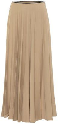 Peter Do High-rise stretch-crepe midi skirt