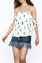 Do & Be Off The Shoulder Cactus Top