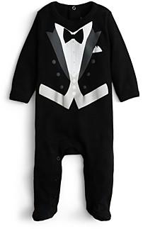 Sara Kety Boys' Black Tie Footie - Baby