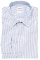 Armani Collezioni Striped Spread Collar Dress Shirt