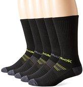 Reebok Men's 5 Pack Tier Stripe Crew Socks