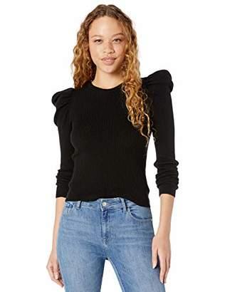 Splendid Women's Long Cashmere Blend Puff Sleeve Sweater