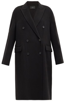 Joseph Carles Felted Wool-blend Double-breasted Coat - Black