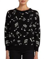 Saint Laurent Music Note Crewneck Sweater