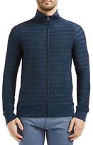 Hugo Boss Boss Orange Ztate Zipped Sweatshirt Jacket, Dark Blue