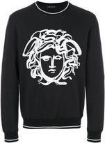 Versace painted Medusa sweatshirt - men - Cotton/Spandex/Elastane - L