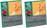 Knock Knock Two Office Supplies Paint-by-Number Postcards Kits