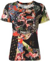 Alexander McQueen floral skull print blouse - women - Cotton - 38
