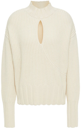 Nicholas Cutout Ribbed Wool And Cotton-blend Sweater