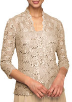 Alex Evenings Sequined Lace Twinset