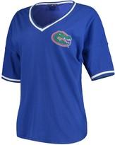 Unbranded Women's Royal Florida Gators Contrast V-Neck Spirit Jersey T-Shirt