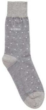 HUGO BOSS Lightweight socks in mercerised cotton with dot pattern