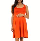 24/7 Comfort Apparel 24-7 COMFORT APPAREL A-Line Dress-Maternity