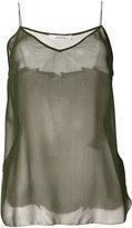 Dorothee Schumacher sheer silk tank top