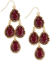 INC International Concepts Gold-Tone Red Crystal Chandelier Earrings, Only at Macy's