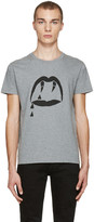 Saint Laurent Grey Blood Luster T-Shirt
