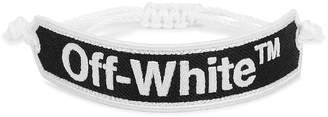 Off-White Off White Monochrome Logo-jacquard Bracelet