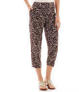 Liz Claiborne Cropped Print Soft Pants - Tall