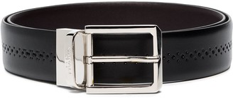 Canali Silver Buckle Belt