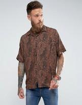 Asos Oversized Viscose Paisley Print Shirt