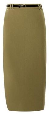 Dorothy Perkins Womens Khaki Tailored Pencil Skirt, Khaki