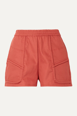 PARADISED Prim Cotton-twill Shorts - Brick