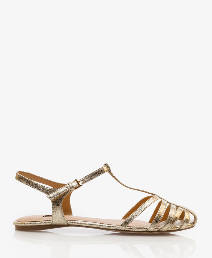 Forever 21 Metallic Strappy Sandals