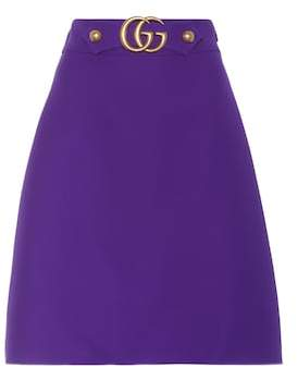 Gucci Wool and silk A-line skirt