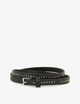 Zadig & Voltaire Ivy stud-embellished leather belt