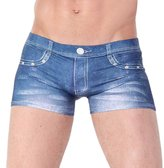Acme CME Mens Denim Printed Boxer Briefs Trunks Size M