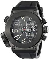 Adee Kaye Men's AK6666-MIPB Bulldozer G-2 Analog Display Swiss Quartz Black Watch