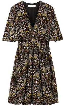 Chloé Floral-print Georgette Mini Dress