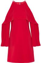 Rosetta Getty Layered Cutout Stretch-cady Dress - US0