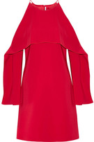 Rosetta Getty Layered Cutout Stretch-cady Dress - US4
