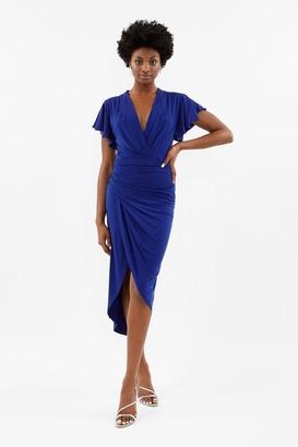 Coast Jersey Ruched Midi Dress