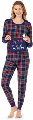 Cuddl Duds Petite 3-Piece Pajama Set