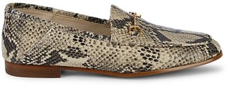 Sam Edelman Loraine Snakeskin-Print Leather Loafers