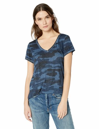 Lucky Brand Women's Camo Burnout Tee Shirt