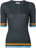 MAISON KITSUNÉ ribbed sweater - women - Nylon/Polyester/Acetate - XS